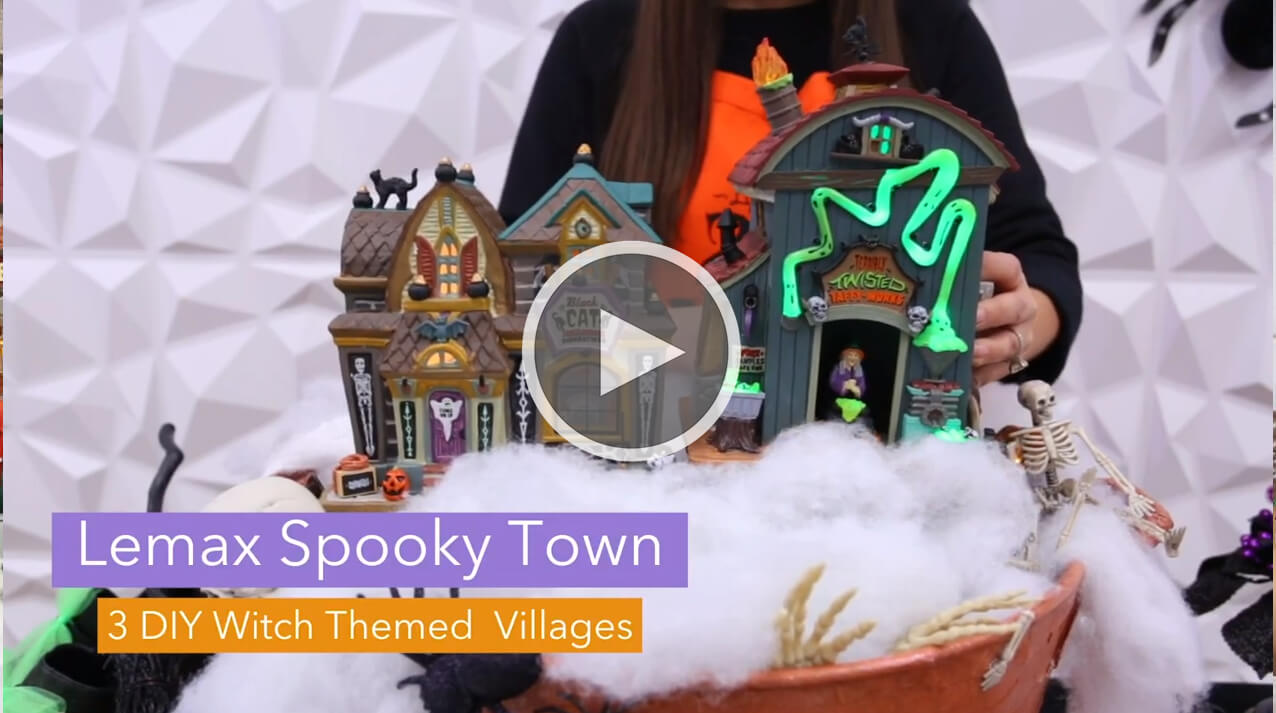 Lemax Spooky Town Witch Accessories